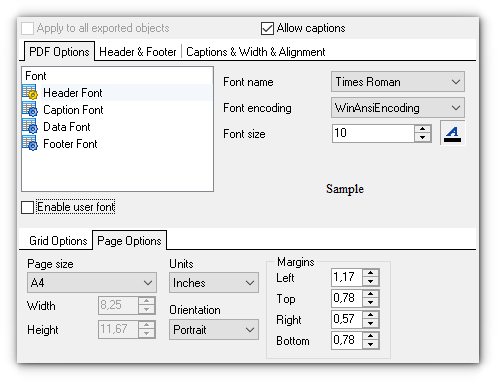 Step 7 - Format-specific options - PDF