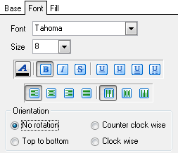 Format-specific options - MS Excel - Extensions - Notes - Font