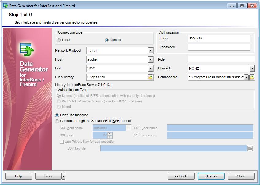 Advanced Data Generator Firebird Edition