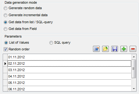 Date field parameters - Mode - List or query