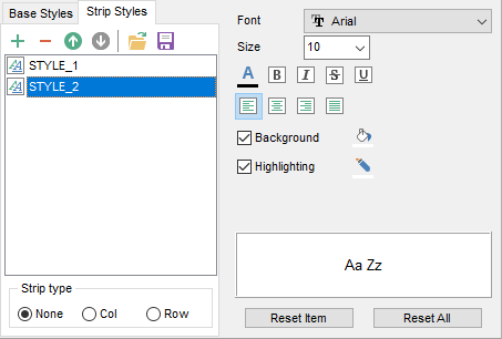 Export Data - Format-specific options - Word - Strip Styles