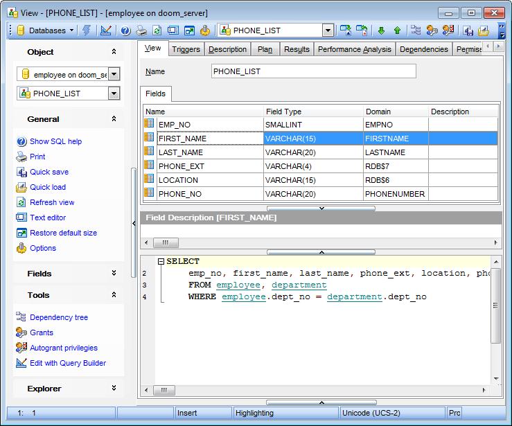EMS SQL Manager - InterBase / Firebird SQL Tools - EMS SQL ...