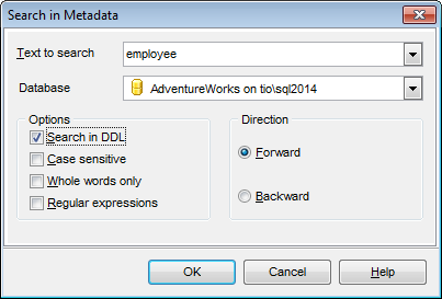 Search in metadata - Setting search condition