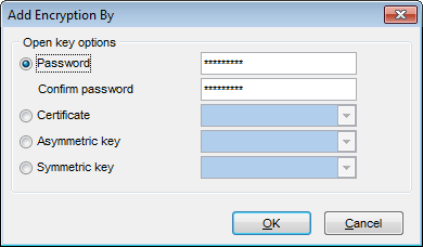 Symmetric Key Editor - Add encryption