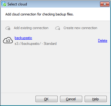 Restore Database Wizard - Files - Add cloud