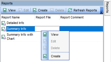 Reports management