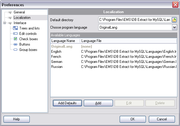hs2320 - Setting program language