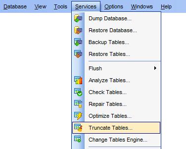 menuServices_TruncateTables  sc 1 st  EMS SQL Manager & EMS SQL Manager - MySQL Tools - EMS SQL Manager for MySQL
