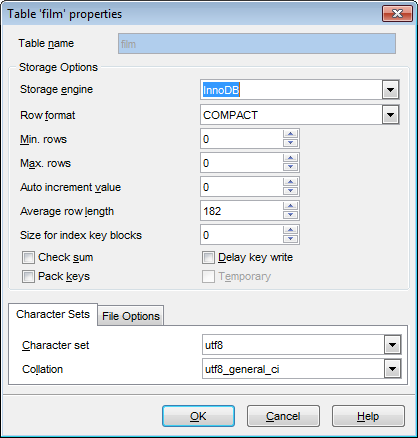 Ems sql manager mysql tools ems sql manager for mysql for Table properties