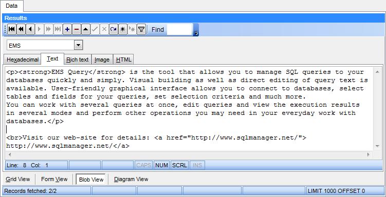 EMS SQL Manager - MySQL Tools - EMS SQL Query for MySQL