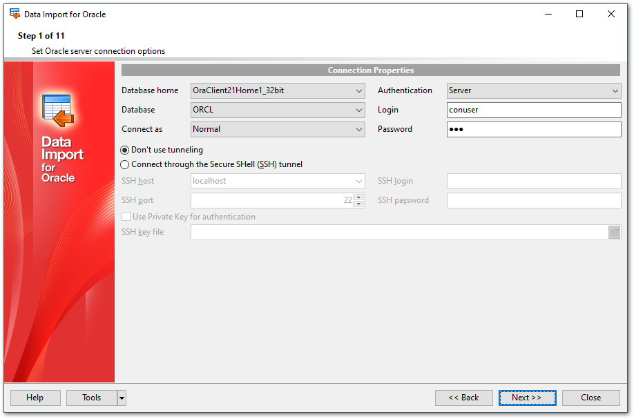 EMS SQL Manager - Oracle Tools - EMS Data Import for Oracle
