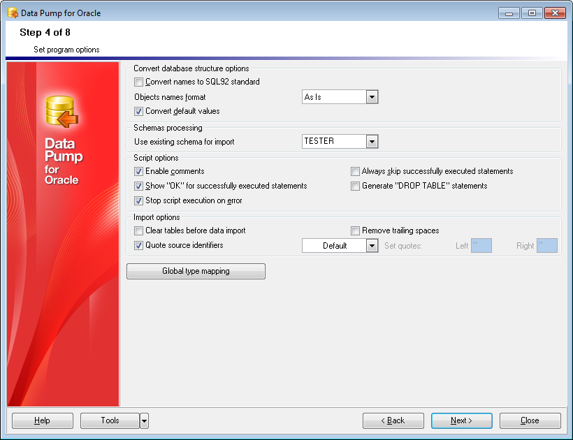 EMS SQL Manager - Outils Oracle - EMS Data Pump for Oracle