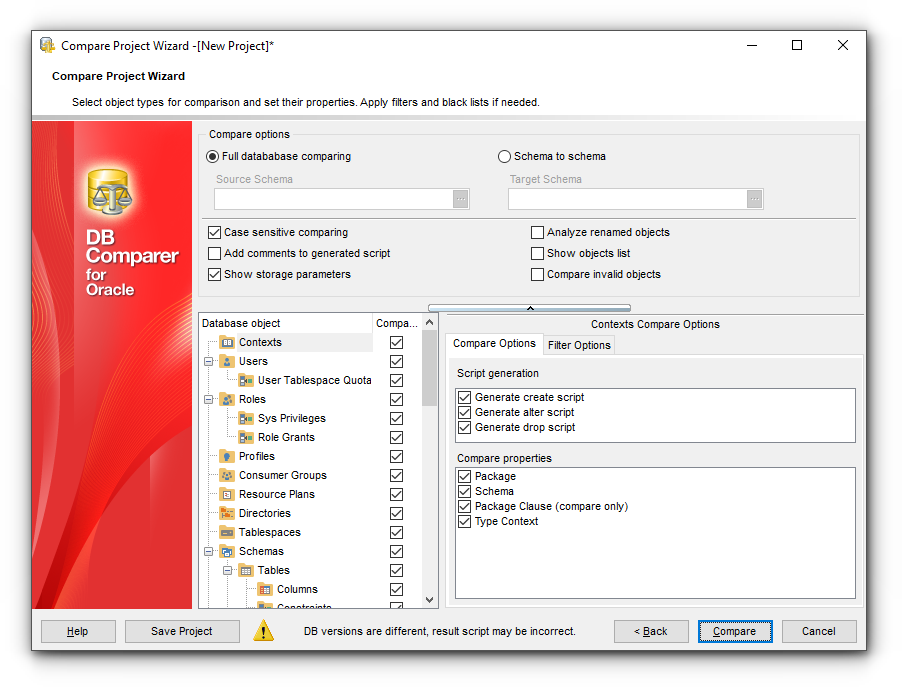 Managing Projects - New Project Wizard - Step 3