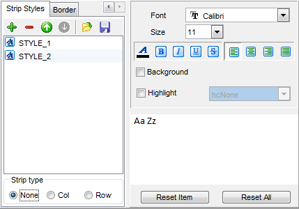 Export Data - Format-specific options - Word 2007 - Strip Styles
