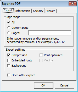 Report Viewer - Export to PDF