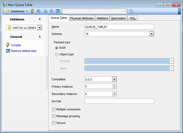 Queue Table Editor - Editing