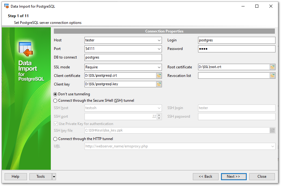 EMS SQL Manager - PostgreSQL Tools - EMS Data Import for