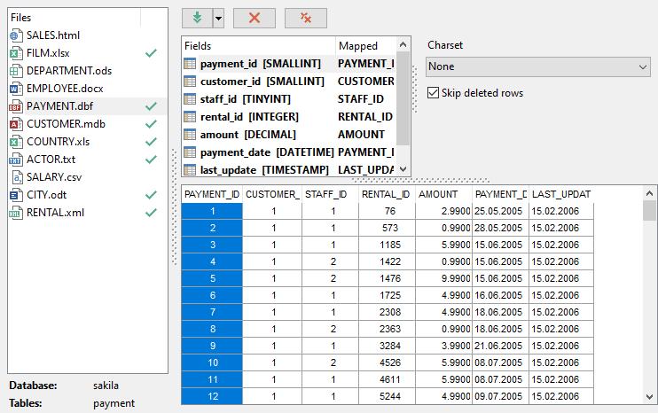 EMS SQL Manager - PostgreSQL Tools - EMS Data Import for