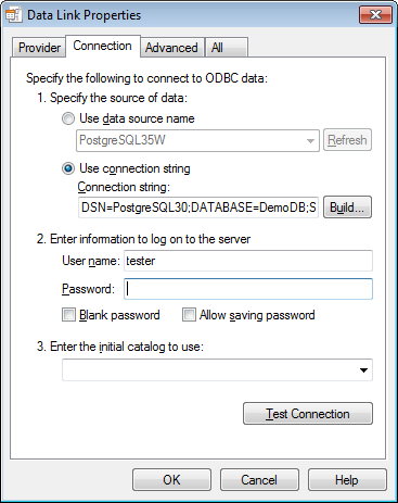 Microsoft OLE DB Provider for ODBC - Connection