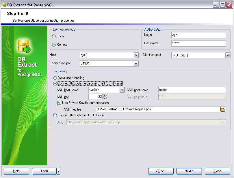 EMS SQL Manager - PostgreSQL Tools - EMS DB Extract for