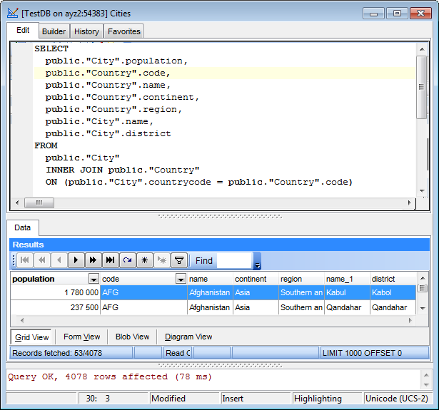 EMS SQL Manager - PostgreSQL Tools - EMS SQL Query for PostgreSQL