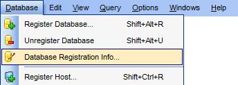Диалог настройки подключения к базе данных