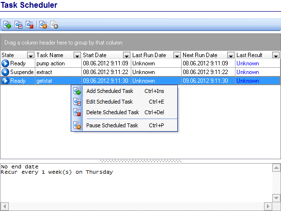 Scheduling and Performing tasks - Task Scheduler