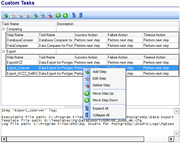 Scheduling and Performing tasks - Managing task steps